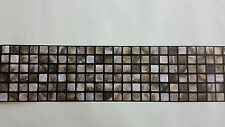AS Creation Brown Mosaic Tile Kitchen/Bathroom Border Wallpaper (8264-66)