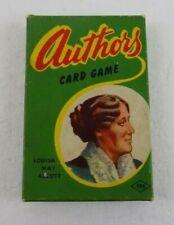 AUTHORS CARD GAME BY E.E. FAIRCHILD CORP.