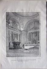 1838 MOULINS Tombeau du Connétable litografia Courtin Allier Desrosiers Auvergne
