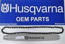 "Husqvarna OEM 18"" .325 72 DL Bar Chain Combo Package 585943272 &  501840672"