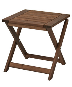 Ikea ÄPPLARÖ Stool Outdoor Foldable Garden Home Furniture Brown Stained NEW