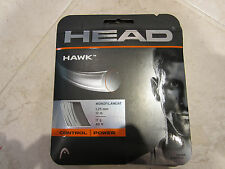 **NEW**  LOT OF 2 SETS HEAD HAWK 17 (1.25) SILVER POLYESTER TENNIS STRING