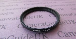 42mm to 43mm Male-Female Stepping Step Up Filter Ring Adapter 42mm-43mm