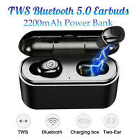 Headset TWS Wireless Earphones Mini Earbuds Stereo Headphones IPX7 Bluetooth 5.0