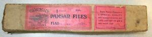 4 Vintage Pansar Milled Tooth File/Rasp Cut/Sweden 8 Tooth/in Original Box