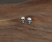 925 Sterling Silver skull earrings earring  P185