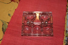 Antique Glass USA Inkwell-Desk Top Inkwell-Dated 1911-Double Inkwell Holder