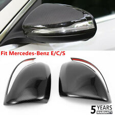 Fit Mercedes-Benz E/C/S Class W205 GLC Rearview Mirror Cover Trim Carbon Fiber~