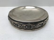 Sterling Silver Fisher Unique Wine Coaster Weighted BEAUTY!!!