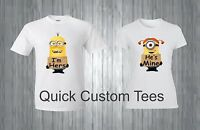 MINIONS COUPLES I'M HERS , HE'S MINE T-SHIRT MATCHING CUTE LOVE  COUPLES NEW