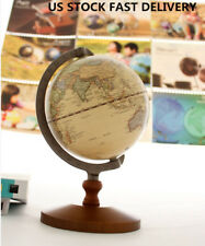 14cm Wood World Globe Educational Model Vintage Reference Work Decor Wedding