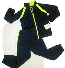 Nwtjumping Beans Jogger Active Boys Tracksuit Set Pants Jacket Size 5 Black Neon