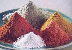 Natural powder clay assorted 100 grams each Soap Making Clay Masks facial bars