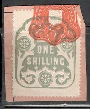 La Reina Victoria - 1s Azul ingresos en papel-Julio de 1900