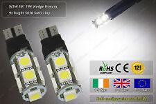 2x LED T10 W5W 501 Xenon White Strobe Police Flash Bulbs Sidelights Car Bike 12v
