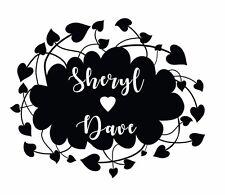Sello de boda, Monograma Personalizado Personalizado Iniciales Y Fecha 50mm Corazón