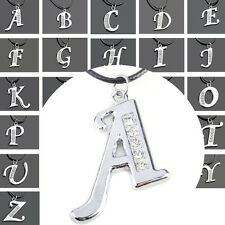 Fashion Stainless Steel Initial Alphabet Letter A-Z Pendant Chain Necklace Gifts