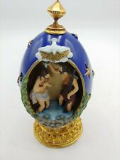 """Franklin Mint Faberge Egg 4 3/4"""" tall """"The Baptism"""" Collectible numbered"""