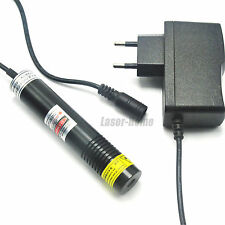 Waterproof 650nm 100mW Red Laser line Diode Module w/ AC Adapter Long time work