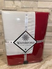 WATERFORD FINE LINENS RED & WHITE CLARISSA TABLE CLOTH