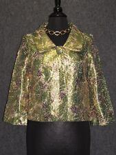 RAPSODIA Colorful Abstract Pattern Cropper Jacket SZ L NEW