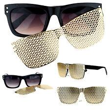 SA106 Detachable Gold Metal Mesh Magnetic Clipon Hip Hop Bling Shades Sunglasses