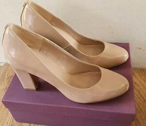 Kurt Geiger Carvela Womens Nude Block Heel Court Shoes Size 5/38 RRP £99