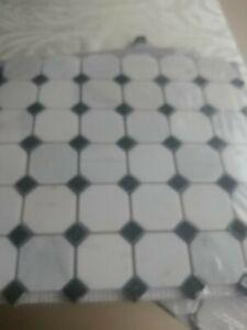 Greecian White/Black Mosaic Marble