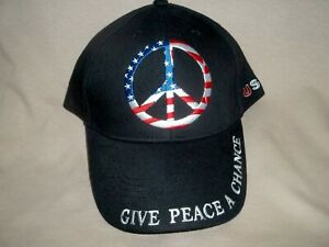 Peace Sign, 100% Cotton, Embroidered Ballcap