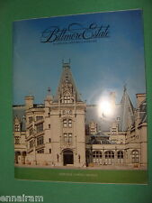 Biltmore House Gardens Winery 1985 guidebook Vanderbilt Estate Asheville NC