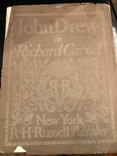 "PROGRAM JOHN DREW AS RICHARD CARVEL NY ""1900"""