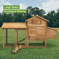 New listing 60'' Large Hen House Pet Cage Chicken Coop Rabbit Hutch Wooden with Run Outdoor