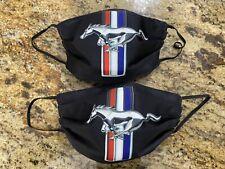 2 Piece Mustang Print  Face Mask Set/ Cubre Bocas