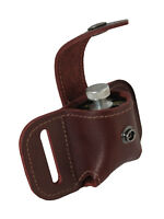 New Barsony Burgundy Leather Belt Loop Single Speed Loader Pouch .22 .38 .357