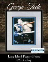 George the Animal Steele E=MC2 Signed Photo  8x10 NEWLY CUSTOM FRAMED STEINER