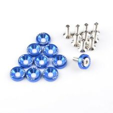 Blue 10Pieces 6MM Bolt Screws Washers Replacement for Car Truck
