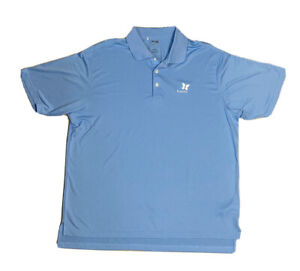 Men's Adidas Climalite Kapalua Golf Club Blue Short-Sleeve Golf Polo XL