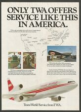 TWA  Wide Bodied Lockheed  L1011 - 1975 Vintage Airlines Print Ad