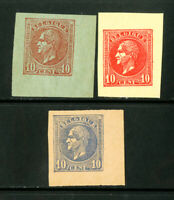 Belgium Stamps Lot of 3 Early Essays