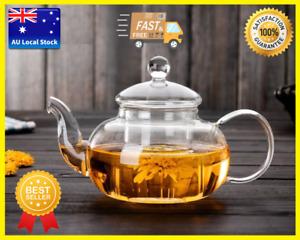 Glass Teapot With Glass Infuser Flower Teapot Tea Maker In 5 Sizes 400ml-1500ml