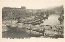 Vintage RPPC L. Roisin Photo Postcard Bilbao Puente General Mola E Ria  Spain