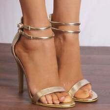 Unbranded Patternless Sandals Synthetic Heels for Women