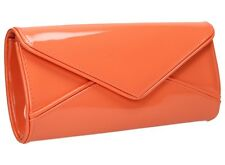 Women Perr Envelope Ladies Patent Leather Clutch Bag Party Prom Designer Handbag
