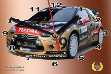 HORLOGE MURALE LOEB, CITROEN DS3 WRC -02M