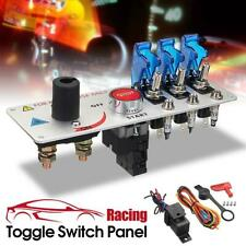 12V Racing Car Toggle Ignition Panel 3 LED Push Button  Engine Starter