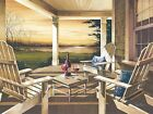 Art Print, Framed or Plaque by John Rossini - Sunset with Wine - JR333