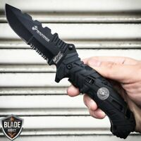 M-TECH USMC MARINES Spring Assisted Open Tactical Rescue Folding POCKET KNIFE