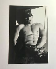 FREE SHIPPING! Vintage 1997 photo semi-nude soldier CONRAD HECHTER gay interest