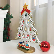 More details for best xmas gift for kids ! diy wooden christmas tree w/mini hanging ornaments