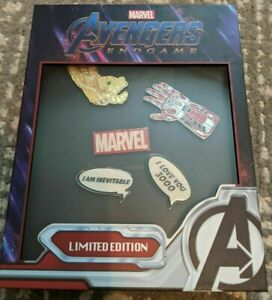 LOUNGEFLY MARVEL AVENGERS ENDGAME PIN SET LE 1000 NYCC 2019 New Ship Now